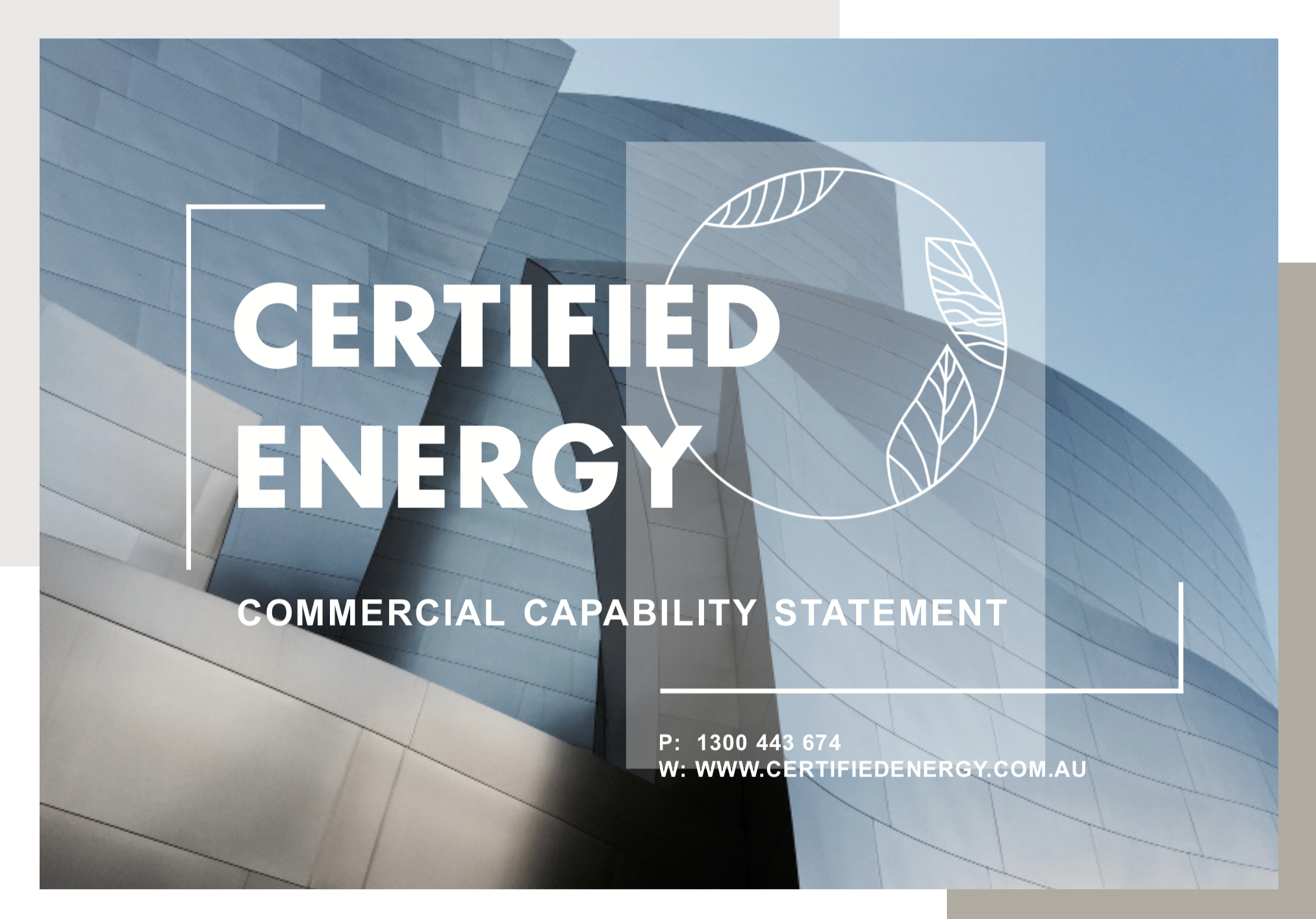 Commercial Capability Statement Image