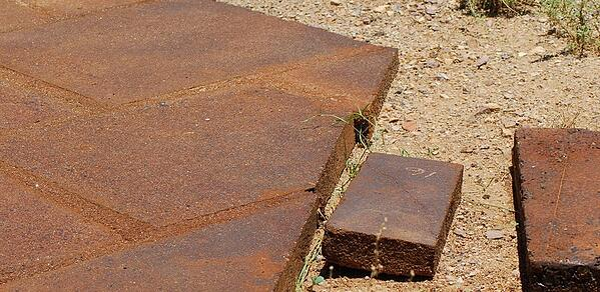 Diagram of ferrock slab after manufacturing