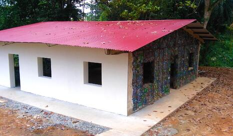 Image of recycled plastic roof tiles