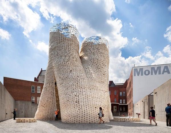 image of HY-FI mycelium brick tower