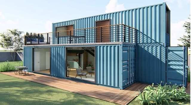 Image of shipping containers being used as home materials