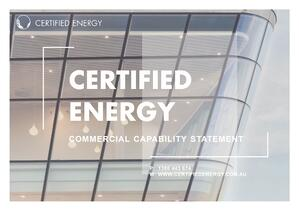 Image of Certified Energy Capability Statement